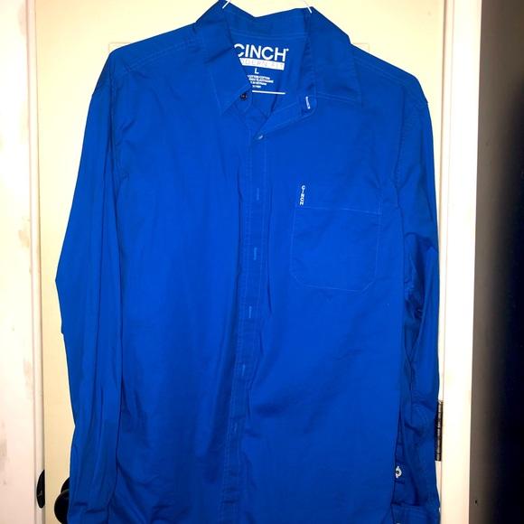 Blue Cinch shirt